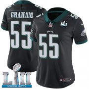 Wholesale Cheap Nike Eagles #55 Brandon Graham Black Alternate Super Bowl LII Women's Stitched NFL Vapor Untouchable Limited Jersey