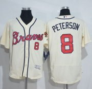 Wholesale Cheap Braves #8 Jace Peterson Cream Flexbase Authentic Collection Stitched MLB Jersey