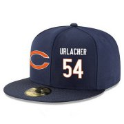 Wholesale Cheap Chicago Bears #54 Brian Urlacher Snapback Cap NFL Player Navy Blue with White Number Stitched Hat