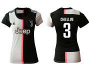 Wholesale Cheap Women's Juventus #3 Chiellini Home Soccer Club Jersey