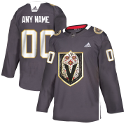 Wholesale Cheap Vegas Golden Knights Custom Men's Grey Adidas Latino Heritage Night Stitched NHL Jersey