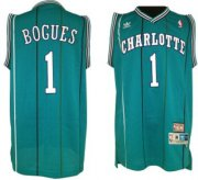 Wholesale Cheap Charlotte Hornets #1 Muggsy Bogues Green Swingman Throwback Jersey