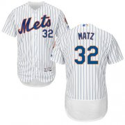 Wholesale Cheap Mets #32 Steven Matz White(Blue Strip) Flexbase Authentic Collection Stitched MLB Jersey