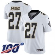 Wholesale Cheap Nike Saints #27 Malcolm Jenkins White Men's Stitched NFL 100th Season Vapor Untouchable Limited Jersey
