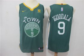 Wholesale Cheap Warriors 9 Andre Iguodala Green Nike Authentic Jersey