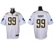 Wholesale Nike Panthers #99 Kawann Short White 2016 Pro Bowl Men's Stitched NFL Elite Jersey