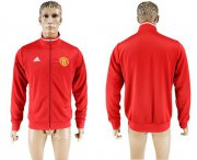Wholesale Cheap Manchester United Soccer Jackets Red