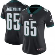 Wholesale Cheap Nike Eagles #65 Lane Johnson Black Alternate Women's Stitched NFL Vapor Untouchable Limited Jersey