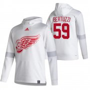 Wholesale Cheap Detroit Red Wings #59 Tyler Bertuzzi Adidas Reverse Retro Pullover Hoodie White