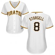 Wholesale Cheap Pirates #8 Willie Stargell White Home Women's Stitched MLB Jersey