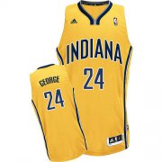 Wholesale Cheap Indiana Pacers #24 Paul George Yellow Swingman Jersey