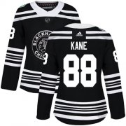 Wholesale Cheap Adidas Blackhawks #88 Patrick Kane Black Authentic 2019 Winter Classic Women's Stitched NHL Jersey