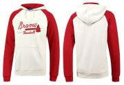 Wholesale Cheap Atlanta Braves Pullover Hoodie White & Red