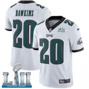 Wholesale Cheap Nike Eagles #20 Brian Dawkins White Super Bowl LII Youth Stitched NFL Vapor Untouchable Limited Jersey