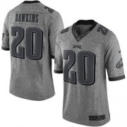 Wholesale Cheap Nike Eagles #20 Brian Dawkins Gray Men's Stitched NFL Limited Gridiron Gray Jersey