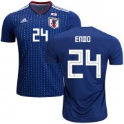 Wholesale Cheap Japan #24 Endo Home Soccer Country Jersey