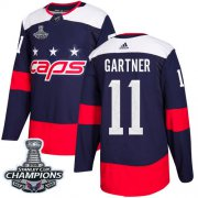 Wholesale Cheap Adidas Capitals #11 Mike Gartner Navy Authentic 2018 Stadium Series Stanley Cup Final Champions Stitched NHL Jersey