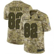 Wholesale Cheap Nike Cowboys #82 Jason Witten Camo Men's Stitched NFL Limited 2018 Salute To Service Jersey