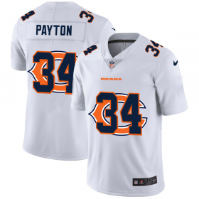 Wholesale Cheap Chicago Bears #34 Walter Payton White Men\'s Nike Team Logo Dual Overlap Limited NFL Jersey