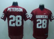 Wholesale Cheap Oklahoma Sooners #28 Adrian Peterson Red Jersey