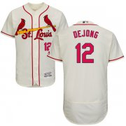 Wholesale Cheap Cardinals #12 Paul DeJong Cream Flexbase Authentic Collection Stitched MLB Jersey