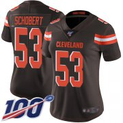 Wholesale Cheap Nike Browns #53 Joe Schobert Brown Team Color Women's Stitched NFL 100th Season Vapor Limited Jersey