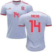 Wholesale Cheap Spain #14 Nacho Away Soccer Country Jersey
