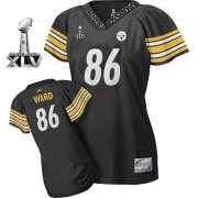 Wholesale Cheap Steelers #86 Hines Ward Black Women's Field Flirt Super Bowl XLV Stitched NFL Jersey