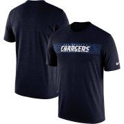 Wholesale Cheap Los Angeles Chargers Nike Sideline Seismic Legend Performance T-Shirt Navy
