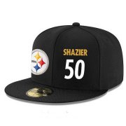 Wholesale Cheap Pittsburgh Steelers #50 Ryan Shazier Snapback Cap NFL Player Black with White Number Stitched Hat