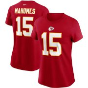 Wholesale Cheap Kansas City Chiefs #15 Patrick Mahomes Nike Women's Team Player Name & Number T-Shirt Red