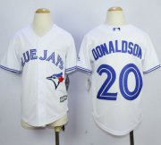 Wholesale Cheap Blue Jays #20 Josh Donaldson White Cool Base Stitched Youth MLB Jersey