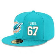 Wholesale Cheap Miami Dolphins #67 Laremy Tunsil Snapback Cap NFL Player Aqua Green with White Number Stitched Hat