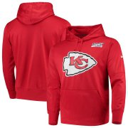 Wholesale Cheap Kansas City Chiefs Nike 100th Season Primary Logo Circuit Performance Pullover Hoodie Red