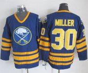 Wholesale Sabres #30 Ryan Miller Navy Blue CCM Throwback Stitched NHL Jersey