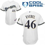 Wholesale Cheap Brewers #46 Corey Knebel White Cool Base Stitched Youth MLB Jersey
