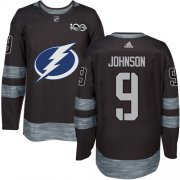 Wholesale Cheap Adidas Lightning #9 Tyler Johnson Black 1917-2017 100th Anniversary Stitched NHL Jersey