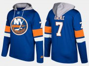 Wholesale Cheap Islanders #7 Jordan Eberle Blue Name And Number Hoodie