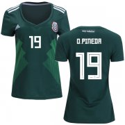 Wholesale Cheap Women's Mexico #19 O.Pineda Home Soccer Country Jersey