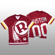Wholesale Cheap NFL Washington Redskins Custom Red Men's Mitchell & Nell Big Face Fashion Limited NFL Jersey