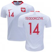 Wholesale Cheap Poland #14 Teodorczyk Home Soccer Country Jersey