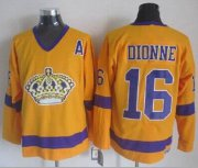 Wholesale Cheap Kings #16 Marcel Dionne Yellow CCM Throwback Stitched NHL Jersey