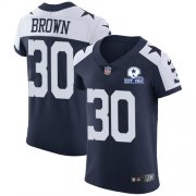 Wholesale Cheap Nike Cowboys #30 Anthony Brown Navy Blue Thanksgiving Men's Stitched With Established In 1960 Patch NFL Vapor Untouchable Throwback Elite Jersey