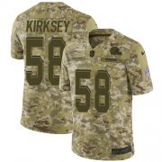 Wholesale Cheap Nike Browns #58 Christian Kirksey Camo Youth Stitched NFL Limited 2018 Salute to Service Jersey