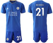 Wholesale Cheap Leicester City #21 Iborra Home Soccer Club Jersey