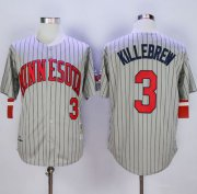 Wholesale Cheap Mitchell And Ness 1987 Twins #3 Harmon Killebrew Grey Throwback Stitched MLB Jersey