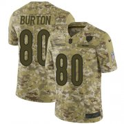 Wholesale Cheap Nike Bears #80 Trey Burton Camo Men's Stitched NFL Limited 2018 Salute To Service Jersey
