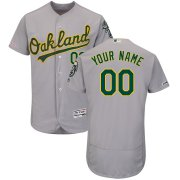 Wholesale Cheap Oakland Athletics Majestic Road Flex Base Authentic Collection Custom Jersey Gray