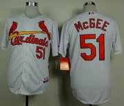Wholesale Cheap Cardinals #51 Willie McGee White Cool Base Stitched MLB Jersey