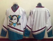 Wholesale Cheap Ducks Blank White CCM Throwback Stitched NHL Jersey